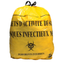 Sacs Poubelle - DASRI - 30 L - lien coulissant - jaune - NF - 20RLX - 25 sacs